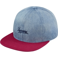 Washed Denim Fitted 6-Panel